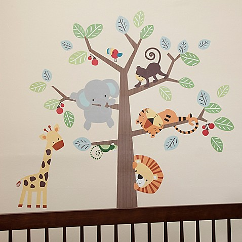 lambs ivy treetop buddies wall decals set of 4 bed bath beyond. Black Bedroom Furniture Sets. Home Design Ideas