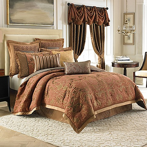 Croscill couture palazzo reversible comforter set bed for Matching bedroom and bathroom sets