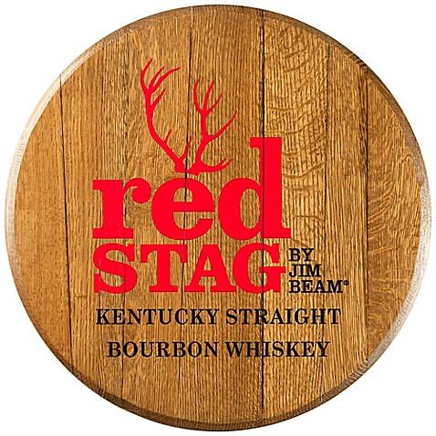 Jim Beam® Red Stag Bourbon Barrel Head Wall Décor - BedBathandBeyond ...