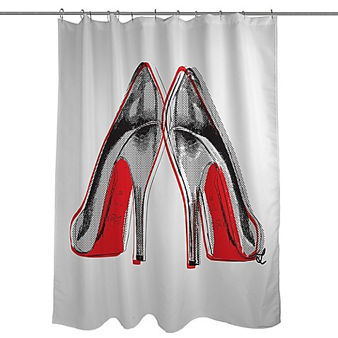 gt; Shower > Shower Curtains > Fire in Your New Shoes Shower Curtain