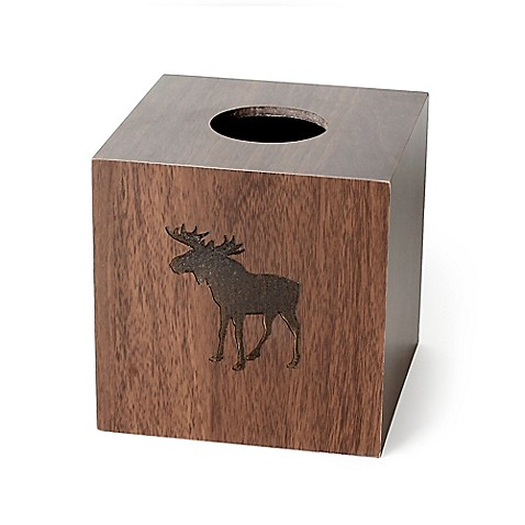 Shower curtains moose motif - Buy Silhouette Wildlife Boutique Tissue Box Cover From Bed Bath