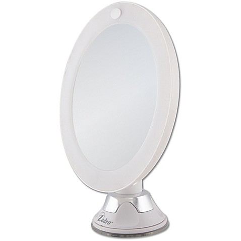Zadro 10x Cordless Led Lighted Wall Mount Mirror Bed