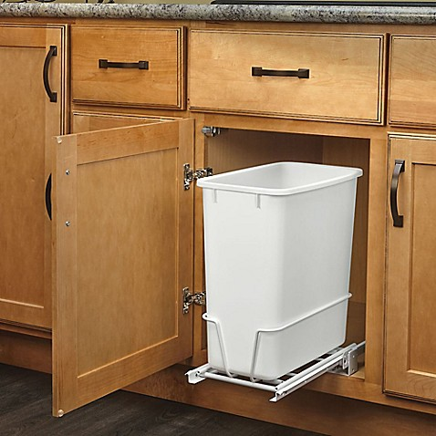 Rev A Shelf Rv 814pb Single 20 Qt Pull Out White