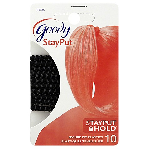 goody stayput 10 count slideproof hair elastics bed