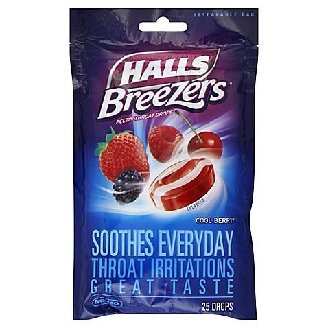 Halls Breezers® 25-Count Throat Drops in Cool Berry® - Bed ...