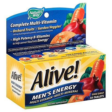 alive � men amp  s energy 50 count multi vitamin multi mineral