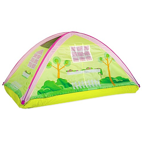 Pacific play tents cottage twin bed tent buybuy baby for Tent cottage