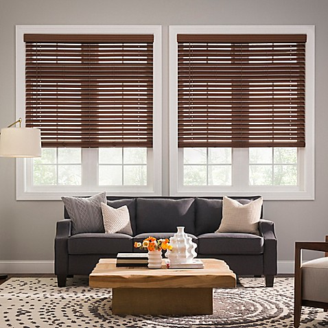 Real Simple 174 Cordless Faux Wood Blinds Bed Bath Amp Beyond
