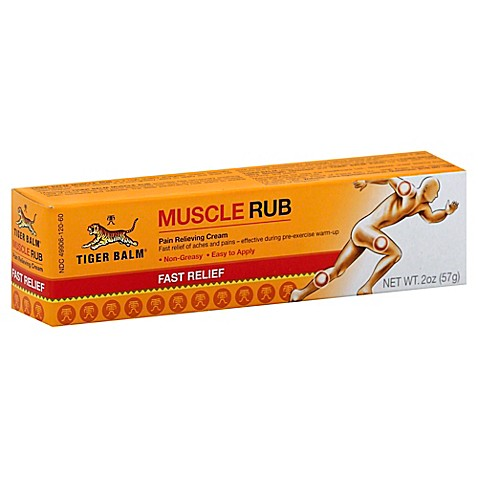 Tiger Balm 174 Muscle Rub 2 Oz Topical Analgesic Cream Bed