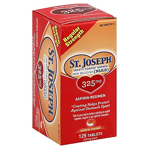 St Joseph 125 Count Enteric Coated 325 Mg Aspirin Tablets
