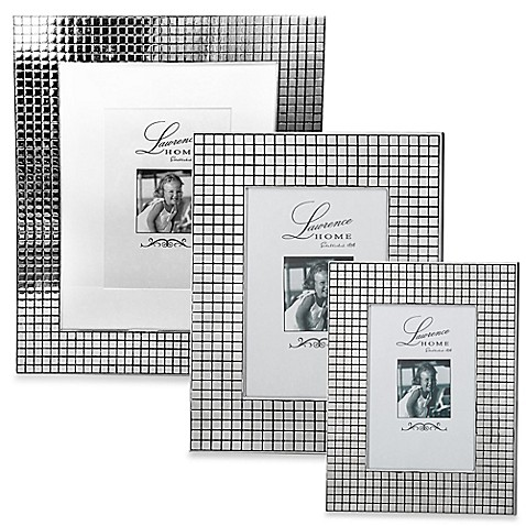 Lawrence Frames Silver-Plated Hollywood Picture Frame with Metal Squares at Bed Bath & Beyond in Cypress, TX | Tuggl