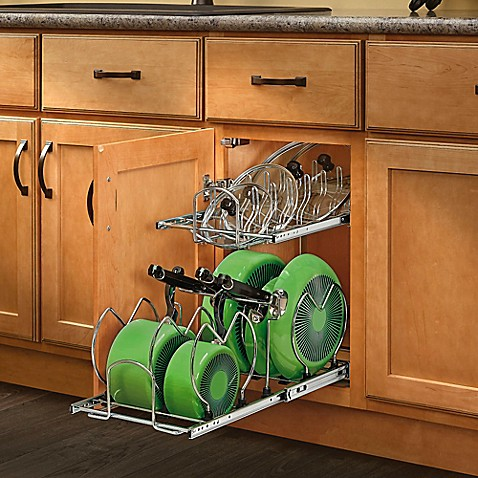 Rev A Shelf 174 2 Tier Cookware Organizer Bed Bath Amp Beyond