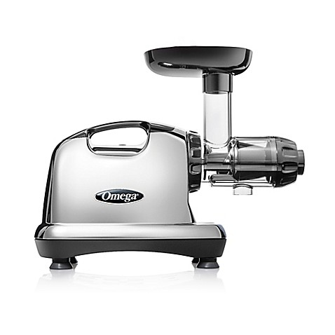 Omega J8006 Nutrition Center Masticating Slow Juicer : Omega Model J8006 Nutrition Center HD Juicer in Chrome/Black - Bed Bath & Beyond