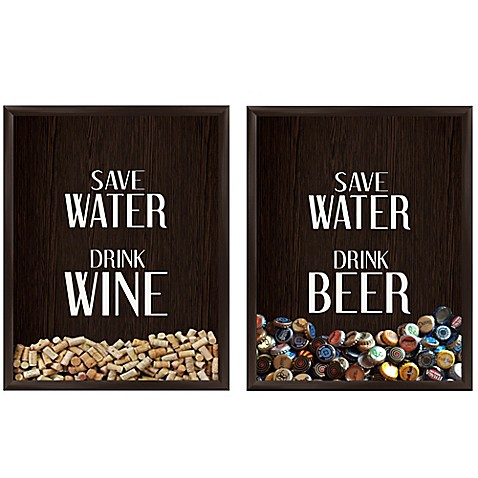 Save Water Drink Graphic Shadow Box Bed Bath Amp Beyond