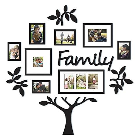 "WallVerbs™ 13-Piece ""Family"" Tree Set in Black at Bed Bath & Beyond in Cypress, TX 
