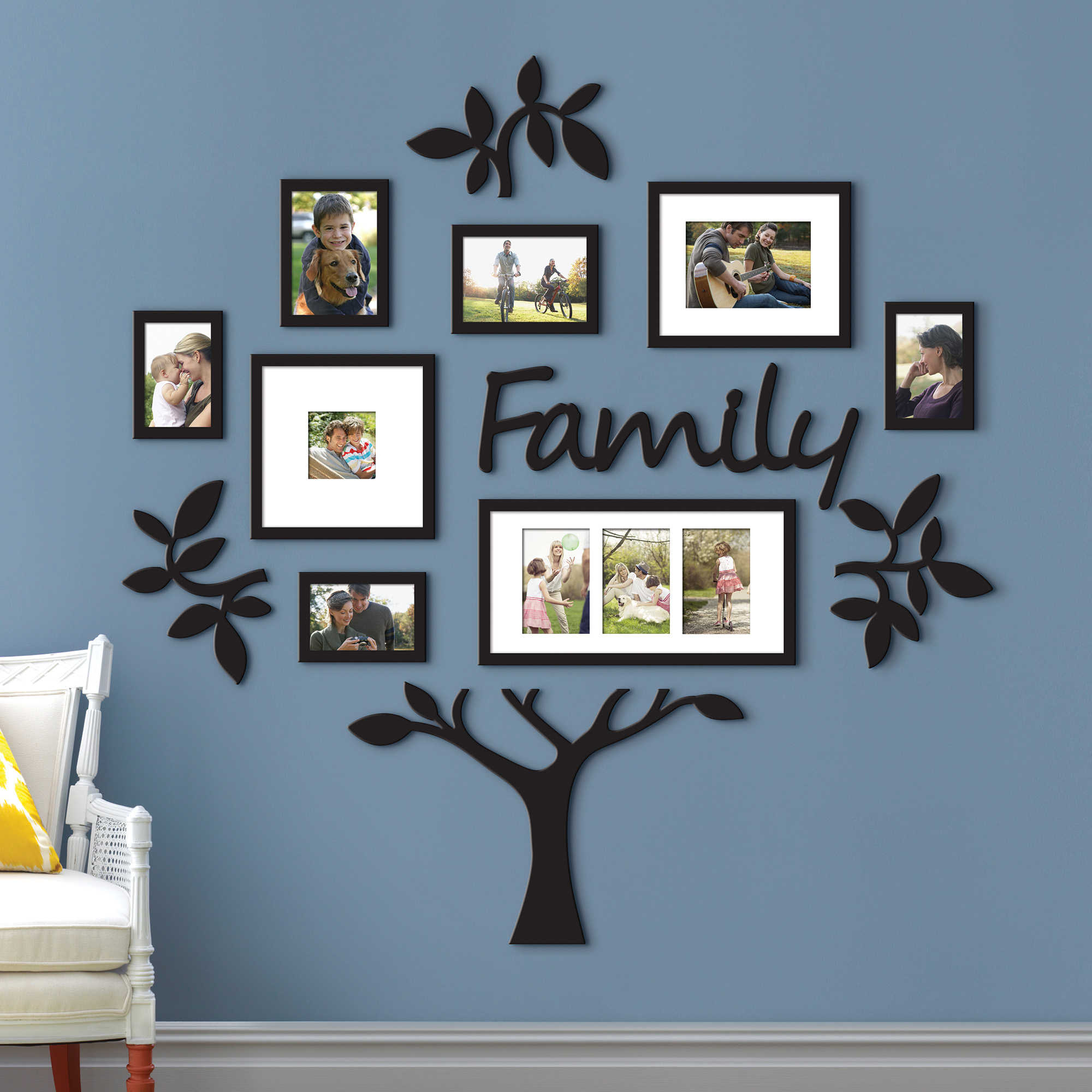 Large wall family tree frame 13 piece lot leaf picture for Home design wall art