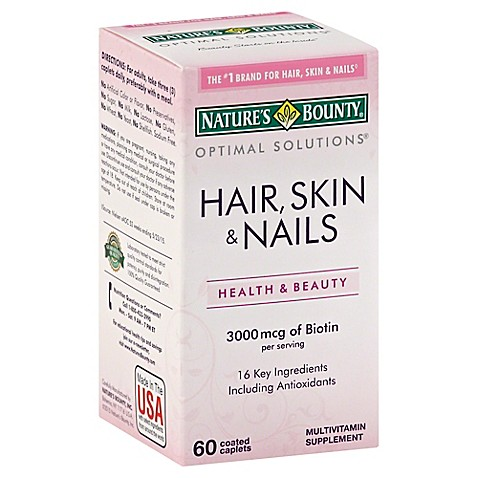Natures bounty hair skin and nails ingredients