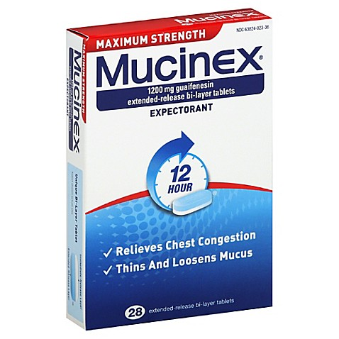 Mucinex 28 Count Maximum Strength Tablets Bed Bath amp Beyond