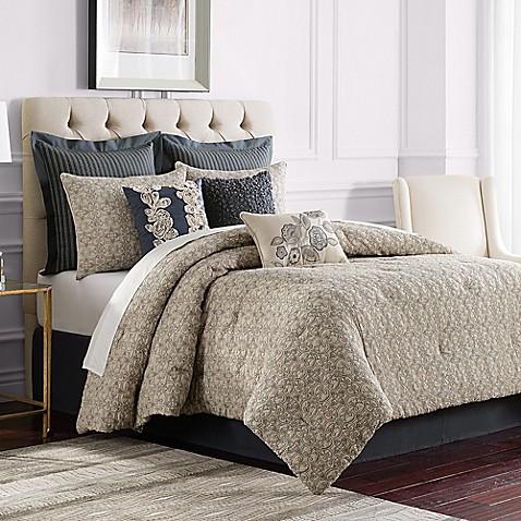 buy sonoma california king comforter set in grey from bed bath beyond. Black Bedroom Furniture Sets. Home Design Ideas