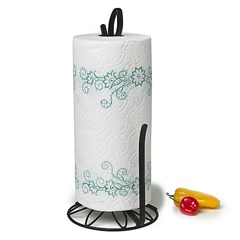 Spectrum Leaf Paper Towel Holder In Black Bed Bath Beyond
