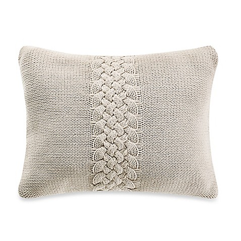 Wamsutta Tapestry Knit Oblong Throw Pillow in Blue - BedBathandBeyond.com