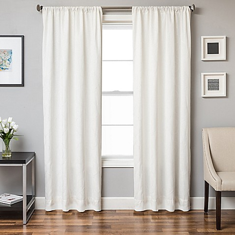 buy monza 108 inch window curtain panel in white from bed bath beyond. Black Bedroom Furniture Sets. Home Design Ideas