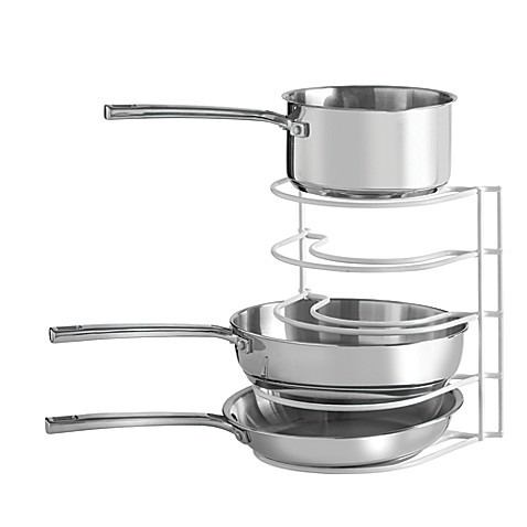 Salt™ Pot And Pan Organizer Rack In White by Bed Bath And Beyond
