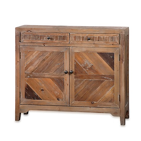 Uttermost Hesperos Reclaimed Wood Console Cabinet | Tuggl