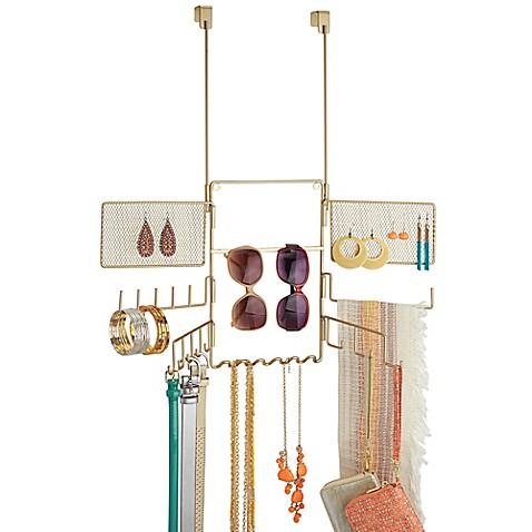 Interdesign classico over the door jewelry organizer for Bathroom jewelry holder