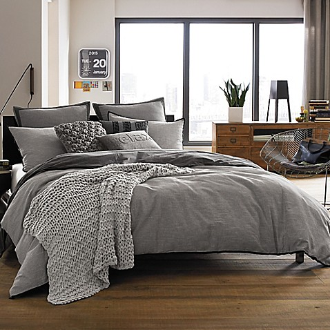 Kenneth Cole Reaction Home Oxford Comforter In Grey Stripe Bed Bath B