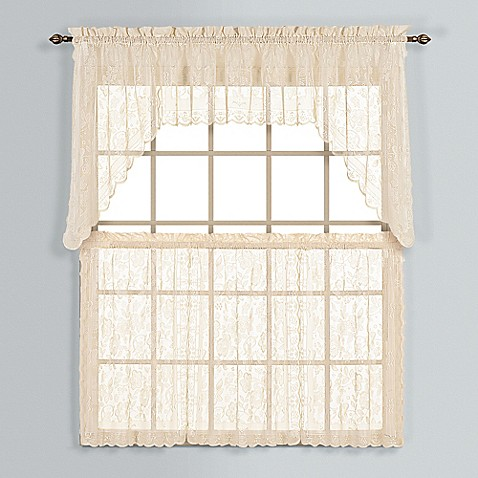 Windsor Lace Window Curtain Tier Pair Bed Bath Beyond