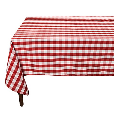 Bed Bath And Beyond Red Gingham