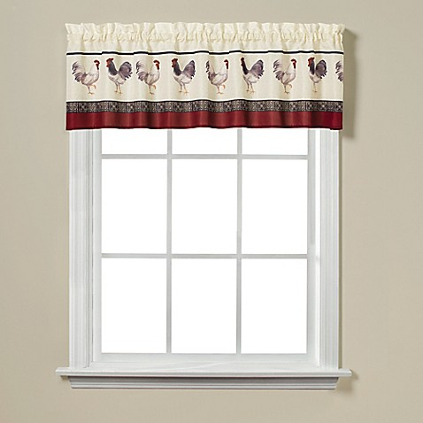 Rooster print 13 window valance bed bath beyond for 13 window
