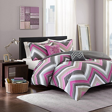 buy elise twin twin xl comforter set in pink grey from bed bath beyond. Black Bedroom Furniture Sets. Home Design Ideas
