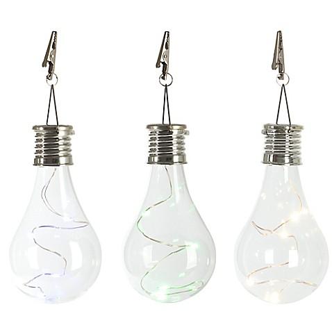 Solar Light Bulb Umbrella Clip Light