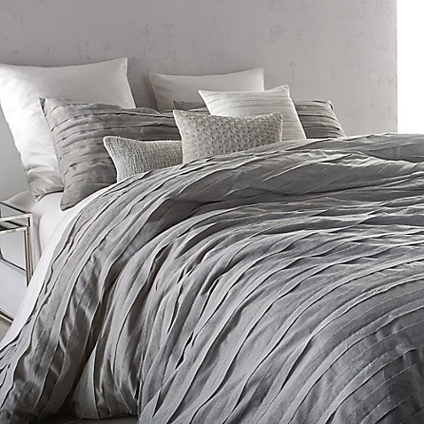 Buy Dkny Loft Stripe King Comforter Set In Grey From Bed