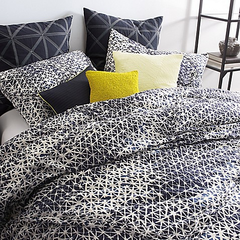 Dkny Gridlock Comforter Set In Navy Bed Bath Amp Beyond