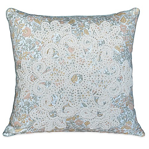 Throw Pillow In French : Nostalgia Home French Chain Reversible Square Throw Pillow - Bed Bath & Beyond