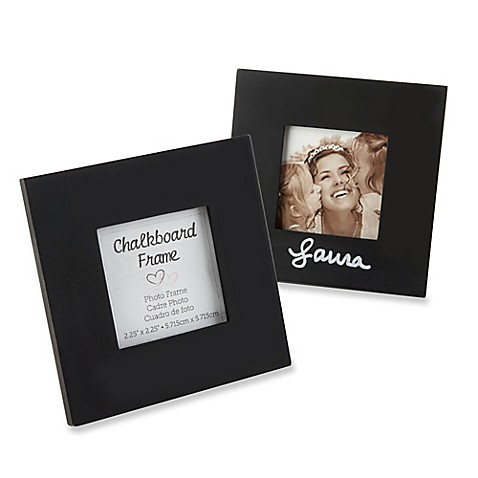 Kate Aspen® Chalkboard Square Photo Frame in Black