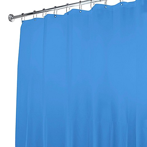 Buy 5 Gauge Shower Curtain Liner In Medium Blue From Bed Bath Beyond