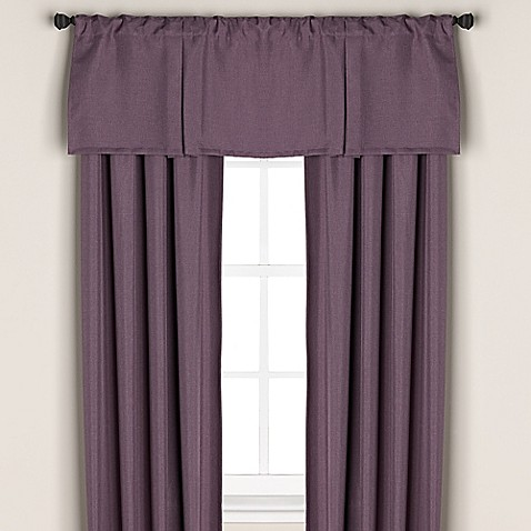 Buy bridgeport window curtain valance in purple from bed for Where to buy drapery