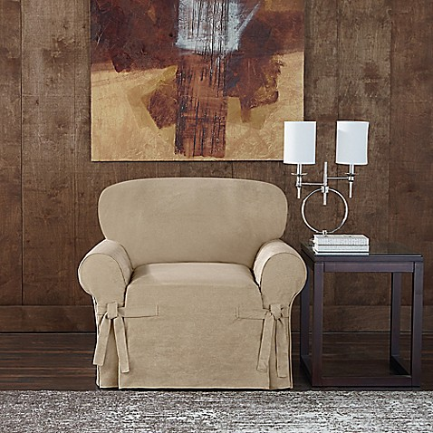 Sure Fit 174 Designer Twill Chair Slipcover Bed Bath Amp Beyond
