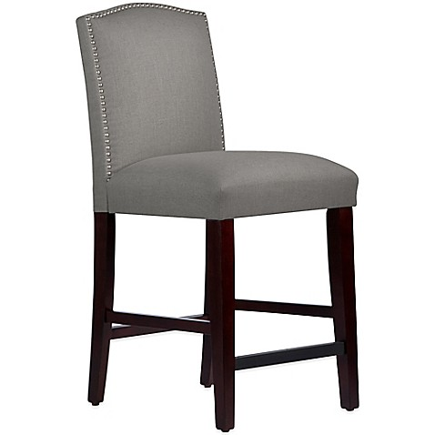 Skyline Furniture Roselyn Nail Button Arched Counter Stool