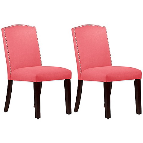 Buy Roseyln Nail Button Arched Dining Chairs In Linen