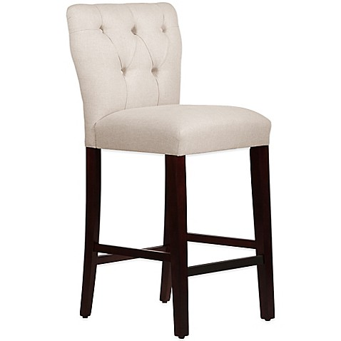 Skyline furniture violeta tufted hourglass bar stool in for Furniture 80s band