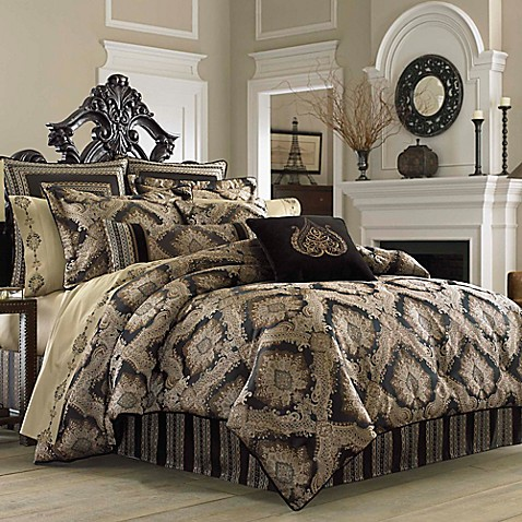 J Queen New York Onyx Comforter Set Bed Bath Amp Beyond