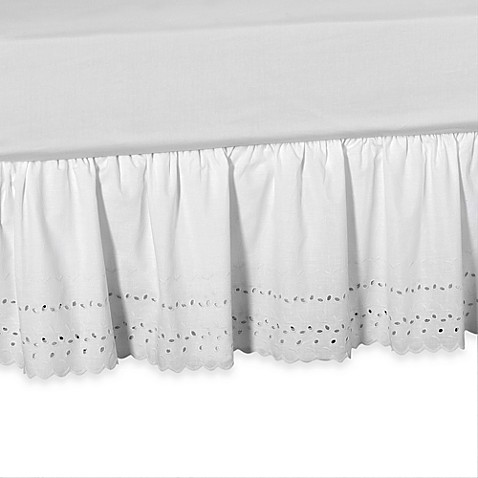 Buy Elizabeth Eyelet Daybed Bed Skirt In White From Bed