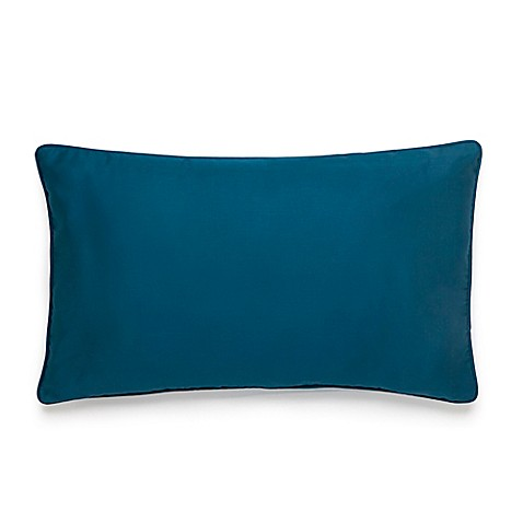 Amy Sia Midnight Storm Sateen Oblong Throw Pillow in Teal | Tuggl