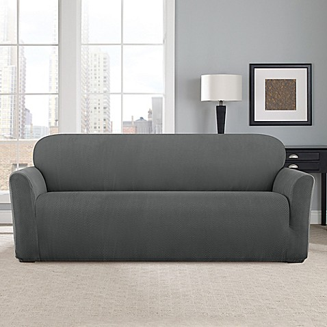 Sure Fit 174 Modern Chevron Sofa Slipcover Bed Bath Amp Beyond