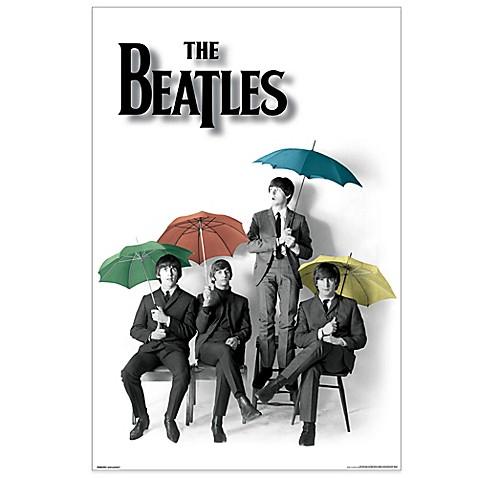 The Beatles Umbrellas Tempered Glass Art Panel Bed Bath
